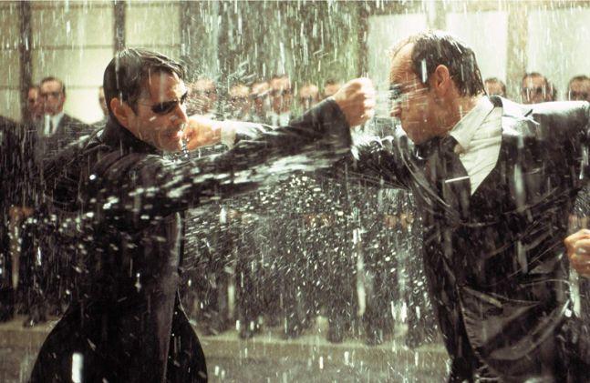 【マトリックスレボリューションズ】雨の中の死闘ネオVSスミス (1)