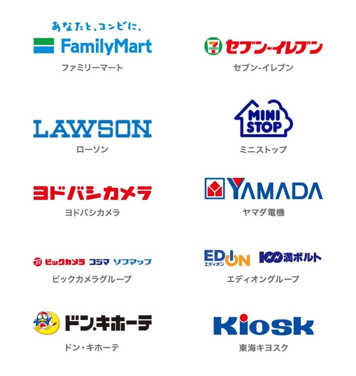 U-NEXTカードの購入可能店舗
