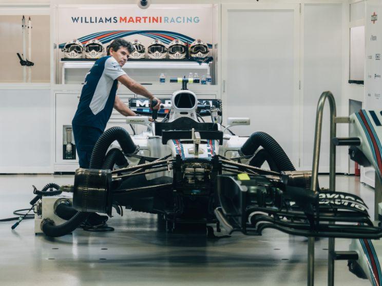 F1マシンとメカニック